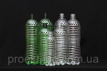 ПЭТ бутылка ПРОЗРАЧНАЯ (пластиковая) 1,0 л (150 шт/уп)  для розлива пива, кваса, лимонада, доставка по Украине