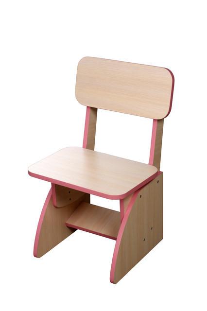 Детский стульчик растущий, розовый
