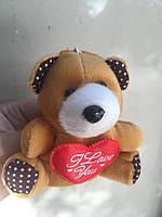 Мягкая игрушка мишка с сердцем оптом для изготовления букетов, фото 1