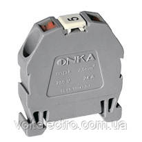 Міні клема модульна ONKA, пружинна серії МРК на DIN-рейку, перетин 2,5, 24 А, 750 В, сіра