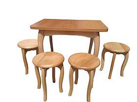 Обеденный столовый комплект «Ольха» с ножками кабриоль