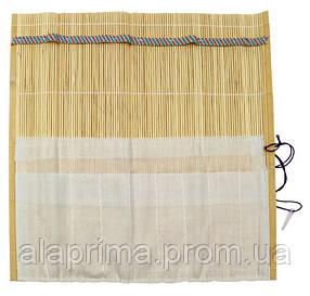 Пенал-коврик для кистей бамбуковый 33х33см DK14509 D.K.ART