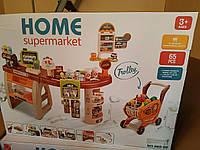 Большой игровой набор Супермаркет с кассой, тележкой и товарами