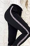 Женские брюки, креп - дайвинг, р-р С-М; М-Л (чёрный), фото 4
