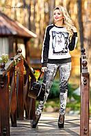 Трикотажные лосины, использование стилизованных под джинсовую ткань, турецкий трикотаж, фото 1