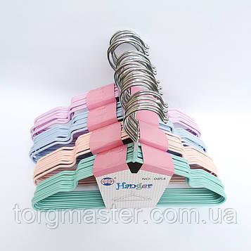 Плечики детские силиконовые в пастельных тонах, 29см, 10шт в упаковке