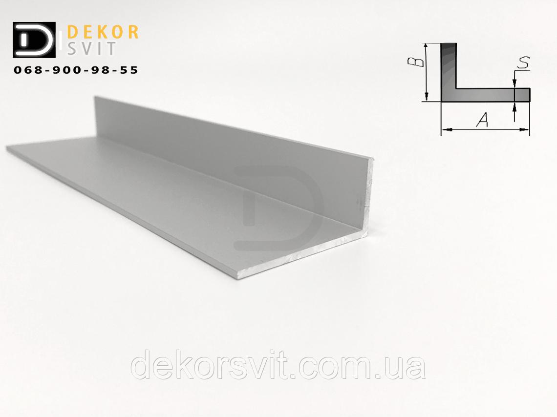 Уголок алюминиевый 40х10х2 без покрытия