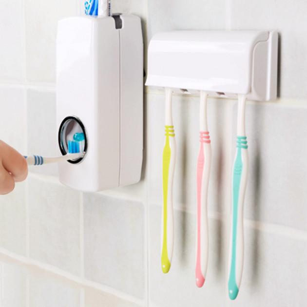 Автоматический дозатор зубной пасты ZGT SKY, Диспенсер для зубной пасты и щеток автоматический PR1