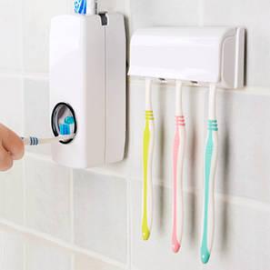 Автоматический дозатор зубной пасты ZGT SKY, Диспенсер для зубной пасты и щеток автоматический PR1, фото 2