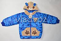 Куртка демисезонная для мальчика мишка синий 2-3 года L