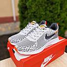 Мужские кроссовки в стиле Nike Zoom AIR серые с оранжевым, фото 2
