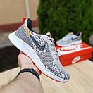Мужские кроссовки в стиле Nike Zoom AIR серые с оранжевым, фото 4