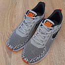 Чоловічі кросівки в стилі Nike Zoom AIR сірі з помаранчевим, фото 7