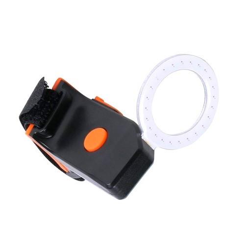 LED кольцевой велофонарь задний аккумуляторный на подседельный штырь