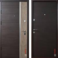 Дверь входная металлическая ZIMEN Darcy, Optima Plus, Kale, Венге темный горизонт, 850х2050, левая