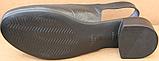 Закриті босоніжки на повну ногу шкіряні на підборах від виробника модель БД14, фото 5