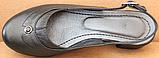 Закриті босоніжки на повну ногу шкіряні на підборах від виробника модель БД14, фото 4