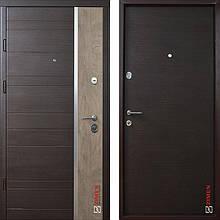 Дверь входная металлическая ZIMEN Darcy, Optima Plus, Kale, Венге темный горизонт, 850х2050, правая