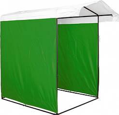 Палатка торговая Премиум зеленый 150х150. Каркас диам. 25 мм