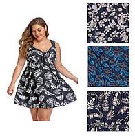 Купальник платье женский очень больших размеров 64 - 74 Valentina в расцветках