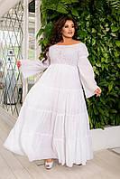 Платье женское вечернее, полубатал, батал, р-ры 42-62
