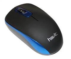 Мышка беспроводная оптическая Havit MS626GT, черно-голубая
