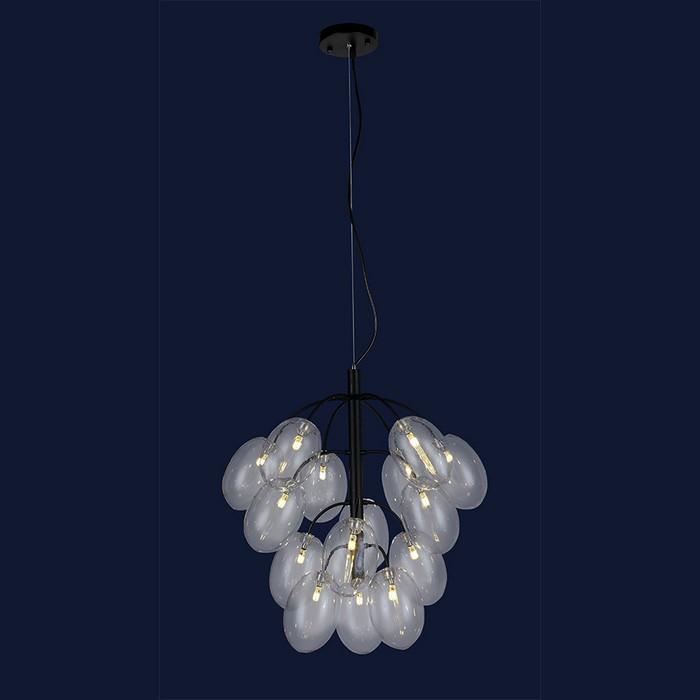 Потолочные люстры светильник в стиле лофт Levistella 756LPR0245-15 BK+CL