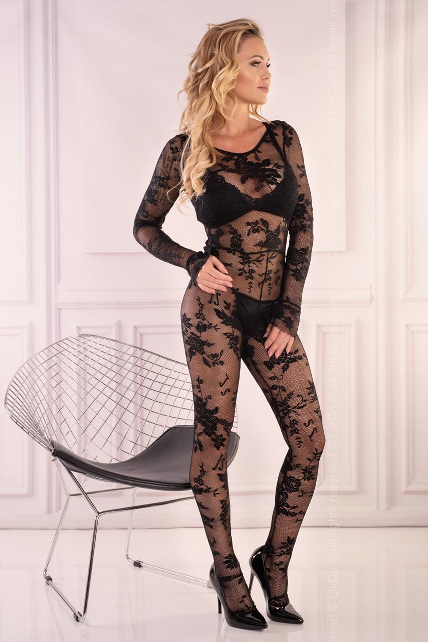 Manelis боді-комбінезон чорний Livia Corsetti Fashion