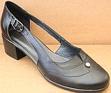 Закриті босоніжки на повну ногу шкіряні на підборах від виробника модель БД16, фото 2