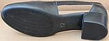 Закриті босоніжки на повну ногу шкіряні на підборах від виробника модель БД16, фото 5
