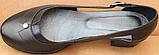 Закриті босоніжки на повну ногу шкіряні на підборах від виробника модель БД16, фото 4
