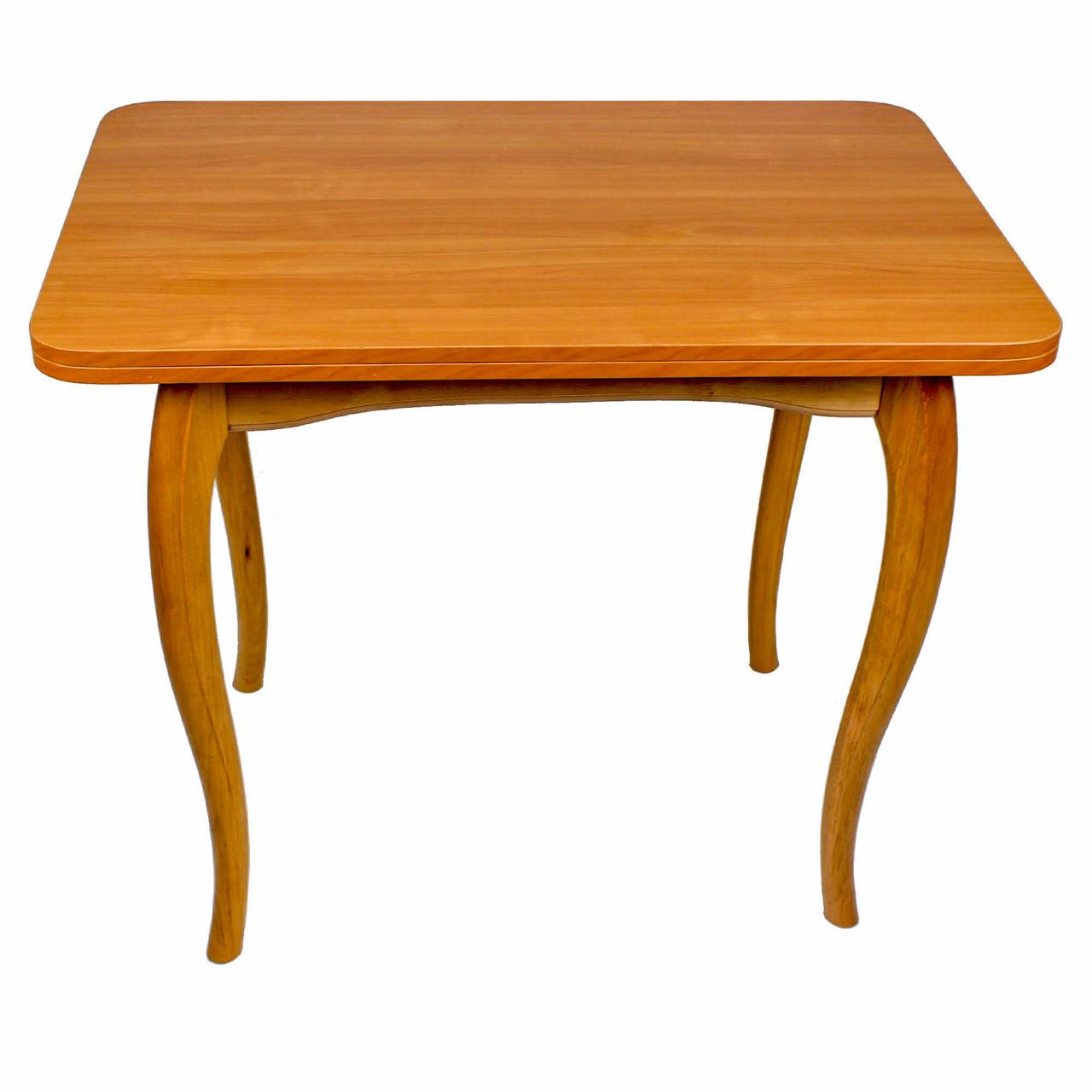 """Обеденный раскладной стол """"Ольха"""" с ножками кабриоль"""