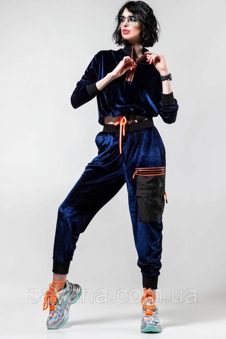 Женский велюровый костюм в расцветках ВС-10-0520