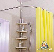 Радиусный / полудуговой карниз для шторки в душ из нержавейки, диаметр трубы 20мм, 25мм, 30мм, 32мм.