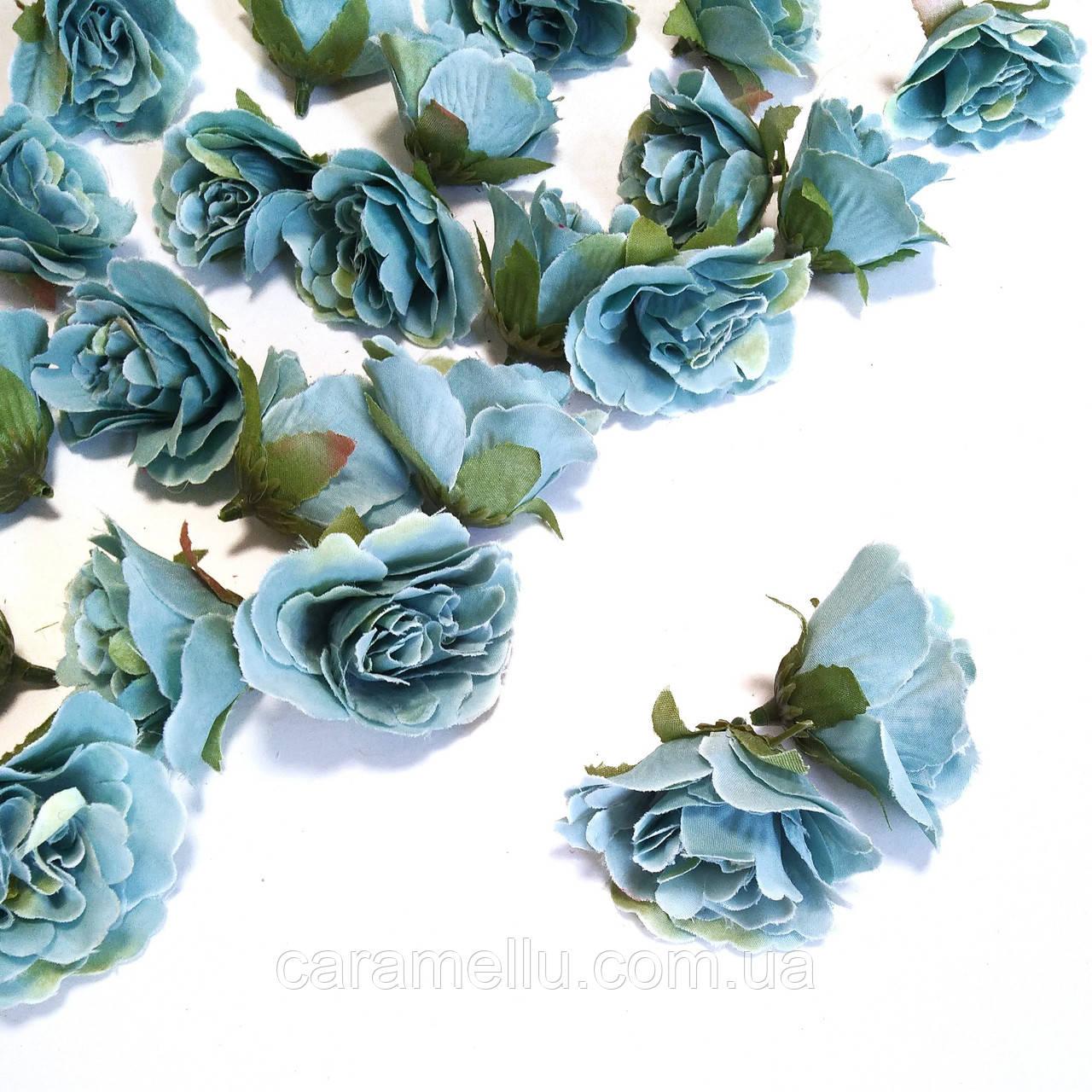 Розочка прованс. Цвет голубой 4,5 см