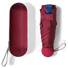Міні - парасольку компактний зручний в чохлі капсула кишеньковий легкий маленький червоного кольору ОПТ, фото 4