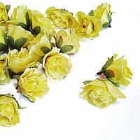 Розочка прованс. 4,5 см. Цвет желтый