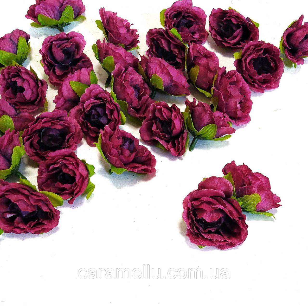 Розочка прованс. 4,5см. Цвет : малиновый