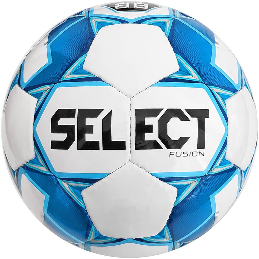 Мяч футбольный Select Fusion размер 4 бело-голубой