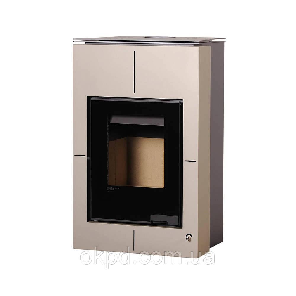 Отопительная печь-камин длительного горения AQUAFLAM VARIO SAPORO (кремовый металлик)