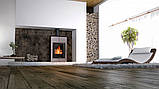 Отопительная печь-камин длительного горения AQUAFLAM VARIO SAPORO (кремовый металлик), фото 8