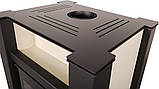 Отопительная печь-камин длительного горения AQUAFLAM VARIO LEND (водяной контур, кремовый), фото 2