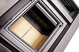 Опалювальна піч-камін тривалого горіння AQUAFLAM VARIO SAPORO (водяний контур, коричневий оксамит), фото 2