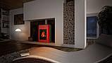 Отопительная печь-камин длительного горения AQUAFLAM VARIO SAPORO (водяной контур, красный), фото 9