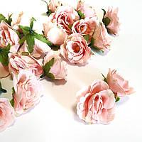 Розочка прованс. Цвет лососевого 4,5 см, фото 1