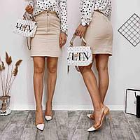 Женская стильная джинсовая юбка с карманами, фото 1