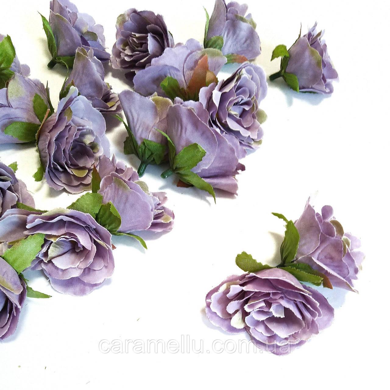 Розочка прованс. Цвет сиреневый 4,5 см