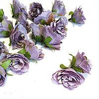 Розочка прованс. Цвет сиреневый 4,5 см, фото 1