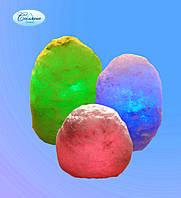 Светильник соляной Скала с цветной подсветкой
