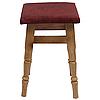 """Комплект из 4-х кухонных табуретов с мягким сиденьем """"Бордовый"""", фото 4"""